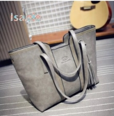 ISBALE HUGE CAPACITY High End Bag shoulder crossbody bag for Women Lady European America popular bag gray 1