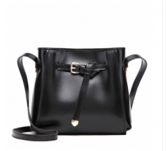Isble New fashion women's small crossbody bags over the shoulder women handbag Bucket Shoulder Bags black 1