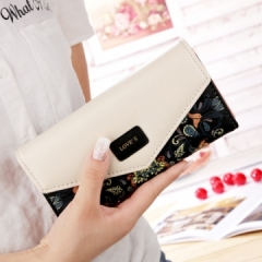 Wallet for women wallets purse dollar price printing designer purses card holder coin bag female black one