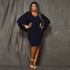 2018 New Style Women Plus Size Bareback Kenya Africa Dress Bodycon Sexy Kenyan African Lady Dresses xl black