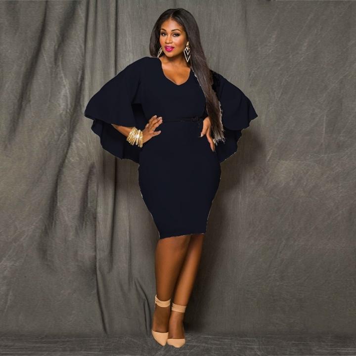 2018 New Style Women Plus Size Bareback Kenya Africa Dress Bodycon Sexy Kenyan African Lady Dresses xl black