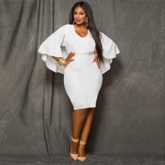 2018 New Style Women Plus Size Bareback Kenya Africa Dress Bodycon Sexy Kenyan African Lady Dresses l white