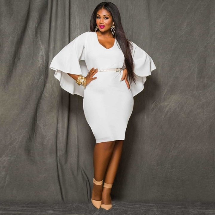 2018 New Style Women Plus Size Bareback Kenya Africa Dress Bodycon Sexy Kenyan African -3687