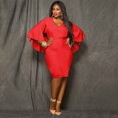 2018 New Style Women Plus Size Bareback Kenya Africa Dress Bodycon Sexy Kenyan African Lady Dresses l red
