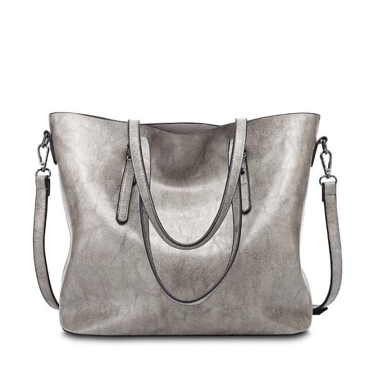 Isable New Fashion Bag Women's Handbags Leather Shoulder Bag Five Colors gray 1