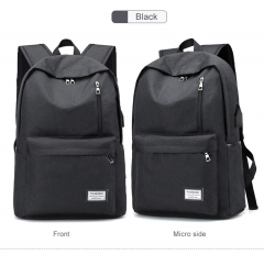 Backpack USB Charging Men Laptop Backpacks For Teenagers Male Waterproof Travel Backpack School Bag black 1