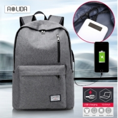 Backpack USB Charging Men Laptop Backpacks For Teenagers Male Waterproof Travel Backpack School Bag blue 1