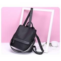 2018 female new style large capacity fashion casual recreational bag Oxford knapsack Backpack black 1