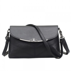 A new fashion bag, single shoulder, cross bag, fashion bag, ladies bag, pure color, small bag black one