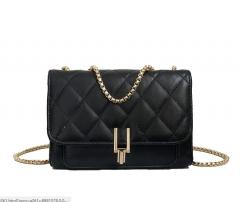 new vagrant bag, small fragrant wind, diamond chain, chain bag, star and the same shoulder bag black 1