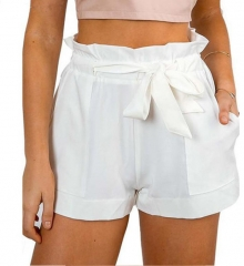 Simple and clean a sexy cotton shorts white s