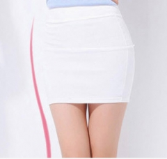 Pure color, candy, color, elastic, a, bag, hip, skirt, waist waist, skirt, white Uniform code