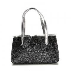 2018 NEW Handbags For Women Fashion Sequins Shoulder Shiny Tote Purse Hobo Bag Satchel Handbag black 1