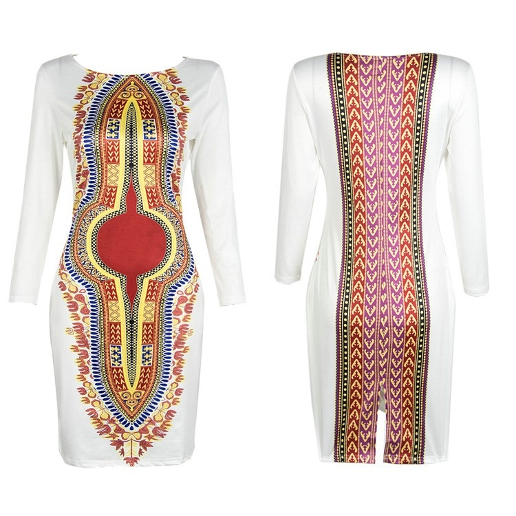 4e8156332cc African Women Clothing White dashiki traditional African Dress ...