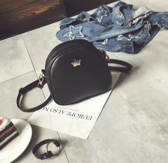 2018 Fashion Women Handbag Messenger Bags PU Leather Shoulder Bag Lady Crossbody Mini Bag Female black 1