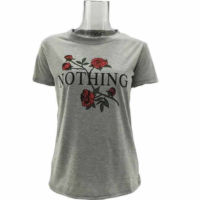 1723e2687fa5b3 Letter Rose Print Female T Shirt Harajuku T-Shirts Women New Summer Short  Sleeve Casual Tee Tops gray l: Product No: 2645477. Item specifics: Brand: