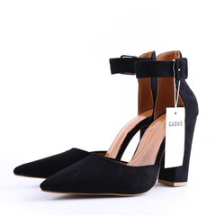High Heels Women's Sandals Summer Shoes Ladies Strappy Pumps Platform Heels Woman Ankle Strap Shoes black 34