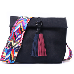 Women Messenger Bag Crossbody Bag tassel Shoulder Bags Female Designer Handbags Women bags black 1