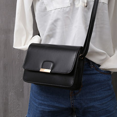 Women's Fashion Leather Simple Solid Handbag Small Shoulder Bags Crossbody Bags black 1