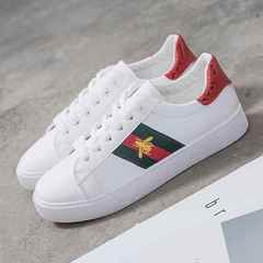 Female Outdoor White Casual Shoes for Women Bee Flat Shoes Student Ladies Shoes  Walking Girls Shoes red 36