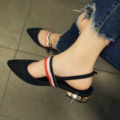2018  pointed toe Flat Shoes Woman With low Loafers fashion Casual Shoes Women Flats Women Shoes black 35