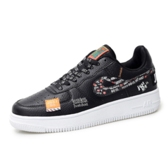 Air Force 1 Skateboard Shoes Breathable Sneakers for  Men and women general  Joint  Comfortable black 36