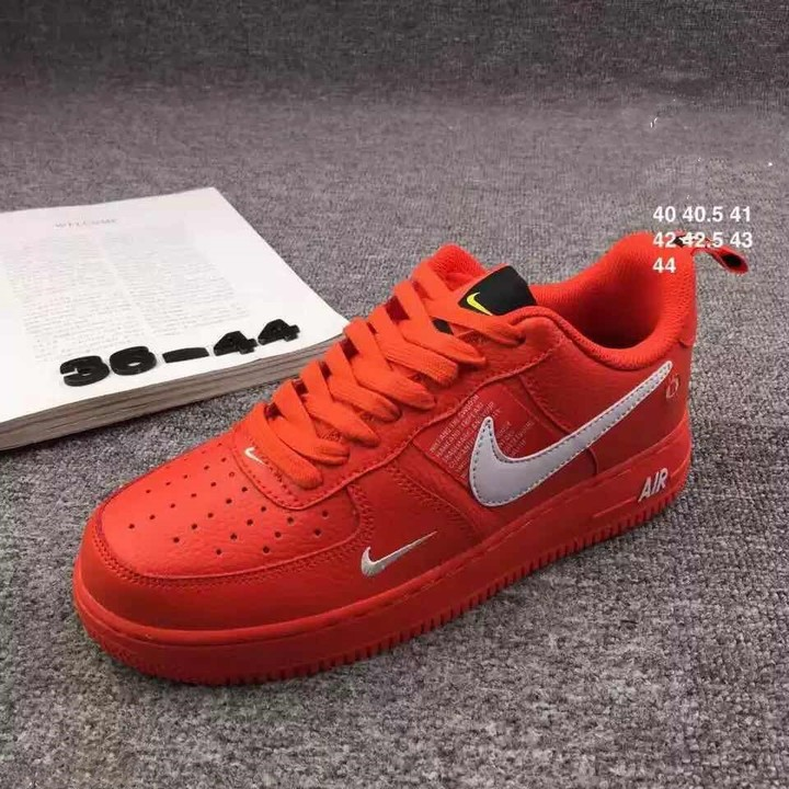 ISABLE Seven Colours High Quality Air Force Trend Sports Shoes Men's Leisure Shoes Skateboard Shoes red 37