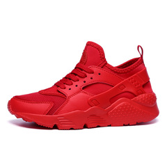 ISABLE 36-47, 8 Colors Wallace Black Samurai Couple Sports Shoes Mesh Light Running Shoes red 36