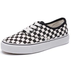 ISABLE Brand - VANS a pair of black and white plaid canvas shoes student flat-soled tidal shoes black and white 35