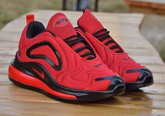 ISABLE Brand -Air max 720 breathable sneakers, men's running shoes, students'shoes, basketball shoes Black and red 40