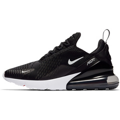 ISABLE Air Max 270 Men's Breathable Running Shoes Outdoor Sport Lace-up Stability Jogging Sneakers black and white 36