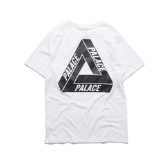 ISABLE -Palace Short Sleeve Triangle Loose Style Lovers Hip-hop Loose Clothes for Men and Women white S(Less than 60KG)