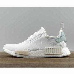 ISABLE- Adidas R1r2boost Running Shoes for Men and Women NMD Sao Paulo Popcorn Couple Sports Shoes Peppermint Green 36