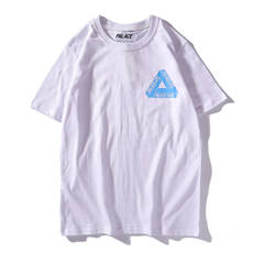 ISABLE 19SS PALAC triangular back three bars short sleeve men's and women's World Cup fans'T-shirt white m cotton