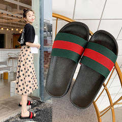 ISABLE New slippers CUCCI female students wear sandals with thick soles and fashionable slippers green and red 36