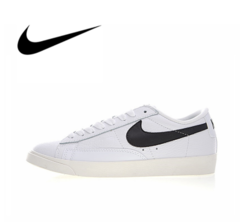 ISABLE Brand-  New Arrival NIKE BLAZER LOW LTHR Men's Skateboarding Shoes Sneakers white 36
