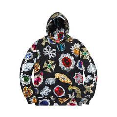 ISABLE-brand supreme sweatshirt Diamond Kirin Arm Gemstone Hat, Garment, Men black s