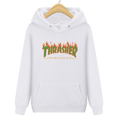 ISABLE Brand-INS Sells THRASHER Flame Printed Hundred Hats and Guards for Men and Women white s
