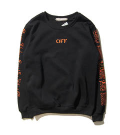 ISABLE Brand-Off White and VLONE Joint Long Sleeve Guard for Men and Women in Loose Street black m