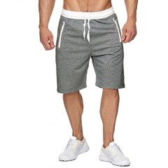 ISABLE New High Quality Cotton Men shorts bodybuilding Fitness Gasp sweat shorts Jogger Casual Gyms gray S