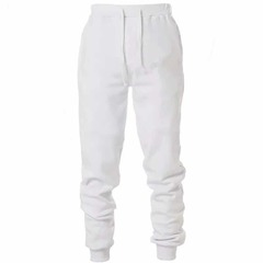 ISABLE casual trousers, elastic waistband trousers, sport trousers, trousers, pure cotton trousers white s