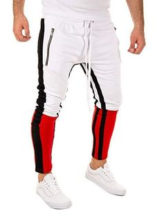 ISABLE brand-Ins hot-selling men's leisure sports pants, hip-hop fitness pants white m