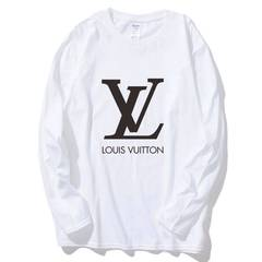ISABLE -Brand LOUIS VUITTON(LV)  Cotton Loose Long Sleeve T-shirt for Men and Women in Autumn white xs (40-50)kg