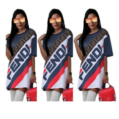 ISABLE Ins FENDY Fashion Women's Wear New Letter T-shirt for European and American Foreign Trade s 1