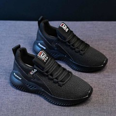 ISABLE Ins sneakers women breathable soft sole shock shoes students new light mesh casual shoes black 35