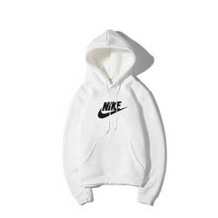NIKE New style of sweetheart, couple, hoodie, male fashion student sport Hoodie white s