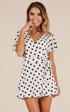 ISABLE Brand-INS Sells Black-and-White Point Pants Short-sleeved Dresses s white