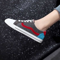 ISABLE Brand-Ins Canvas Shoes Female Colour Matching Board Shoes Korean version Baitajie Shoes red 35