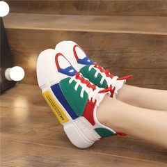 ISABLE Brand-Shoes, stockings, shoes, spring and summer new color thick-soled muffin leisure sports white 35