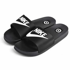 ISABLE Brand-NIKE Adidas Slippers Fashion Slippers Men and Women Fashion Indoor and Outdoor Students black 39